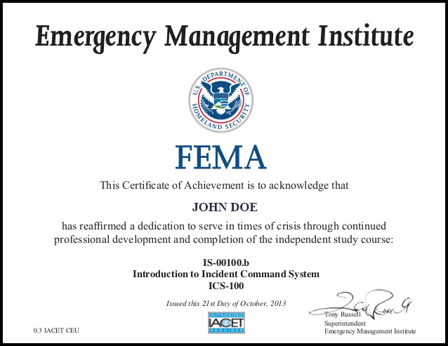 CERTIFICATION | Universal Safety USA
